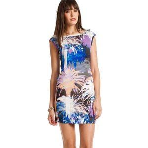 {Trina Turk} Medini Watercolor Palm Tree Dress